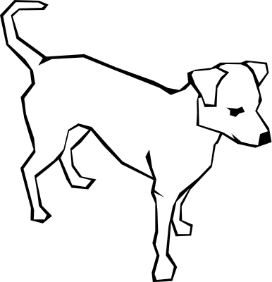 Dog  black and white dog black and white clip art clipart photo
