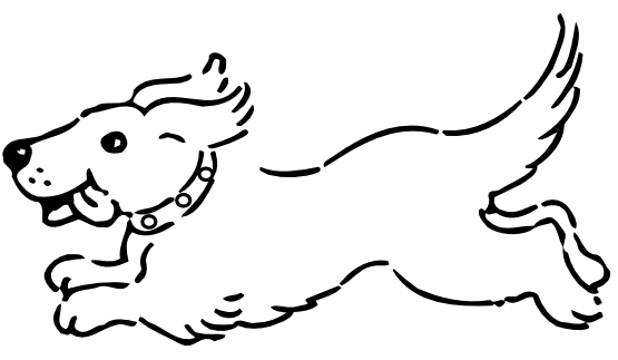 Dog  black and white dog clip art black and white free clipart images 4