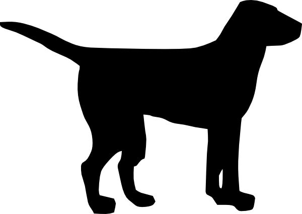 Dog  black and white dog clipart black clipartfest