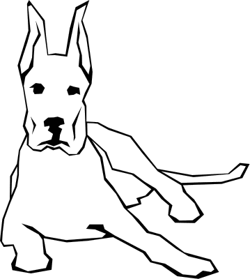 Dog  black and white free dog clipart black and white clipartfest