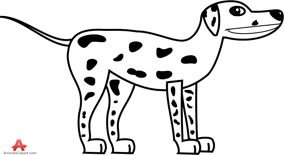 Dog  black and white white dog with black spots clipart free design download