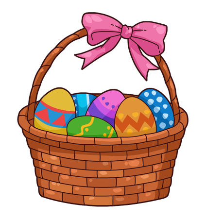 Easter basket clip art free clipart