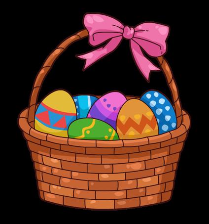 Easter basket clip art free clipart