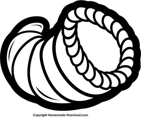 Empty cornucopia clipart