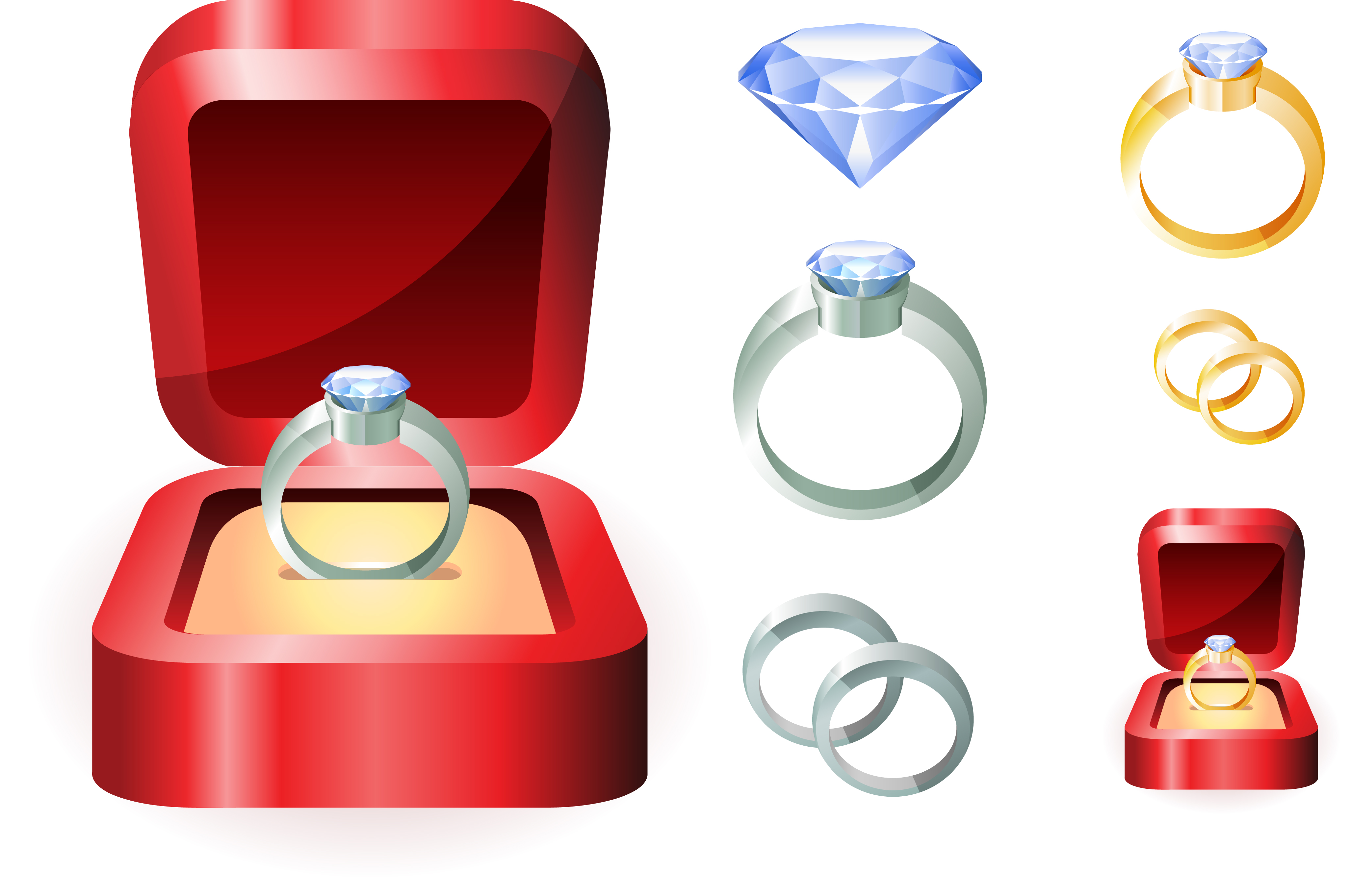 Engagement free wedding ring clipart