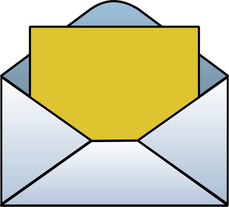 Envelope clip art free clipart images 2