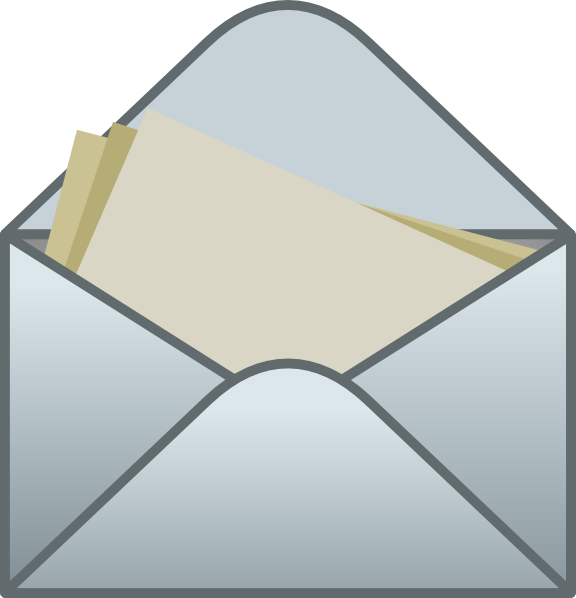Envelope free to use clip art 3