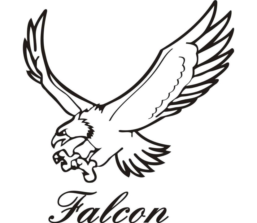 Falcon mascot clipart clipartfest