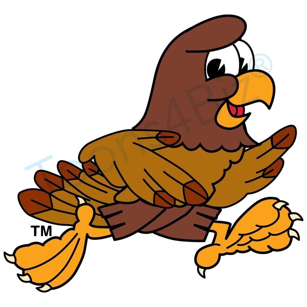 Falcon mascot running clip art