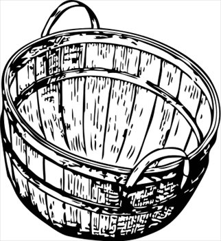 Free bushel picking basket clipart graphics images