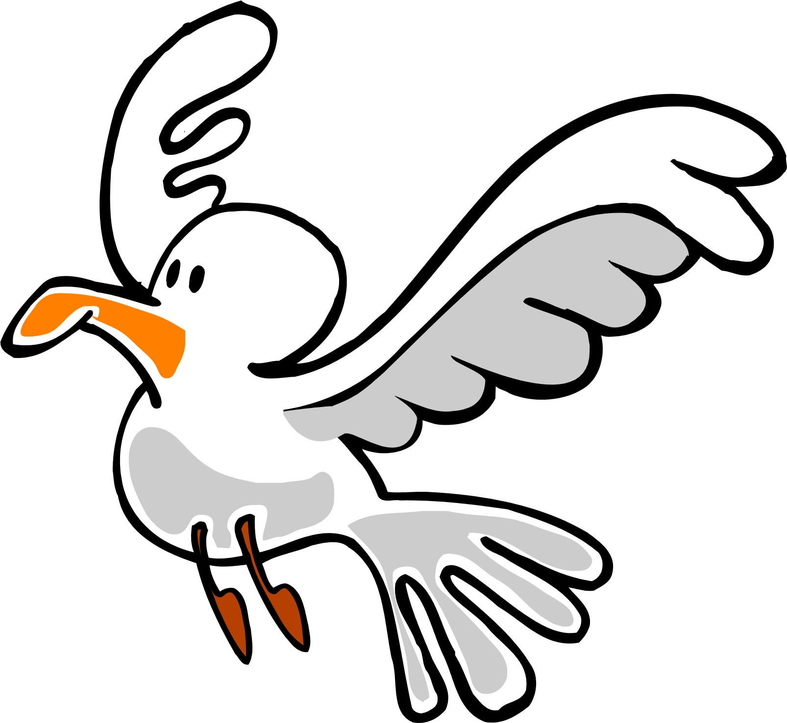 Free clip art seagull cartoon clipartfest