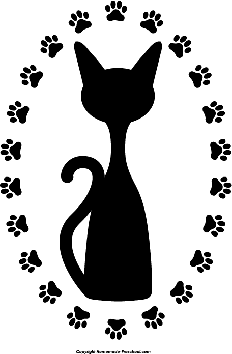Dog Cat Silhouette Circle