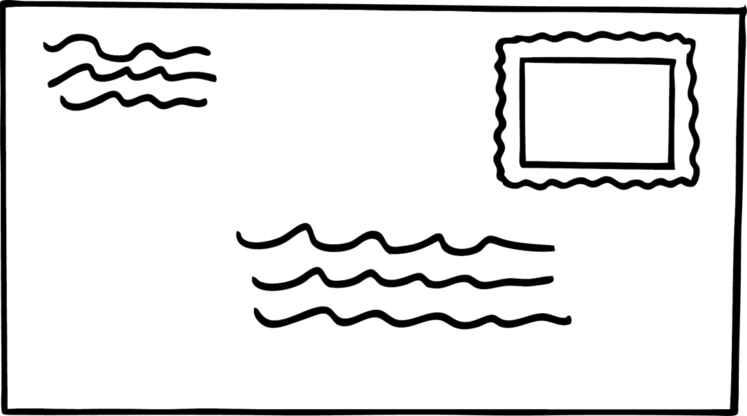 Front of envelope clipart clipartfest
