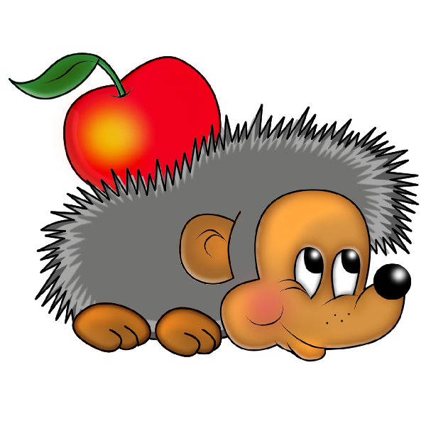 Funny hedgehog images clipart