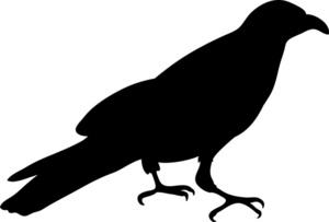 Halloween crow clipart