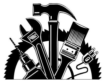 Handyman clipart black and white clipartfox