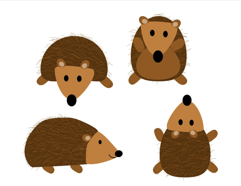 Hedgehog clipart 2