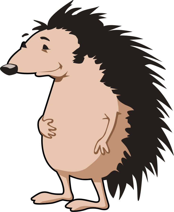 Hedgehog clipart free images 7