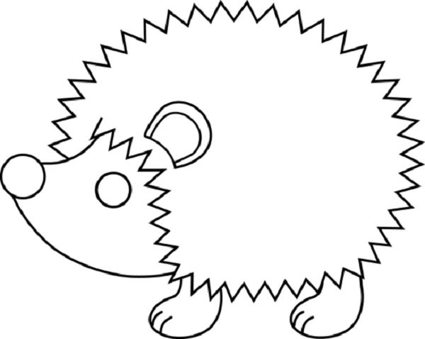 Hedgehog clipart outline clipartfest