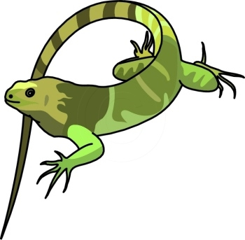 Iguana silhouette free clip art