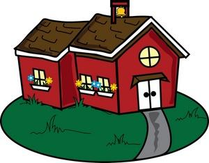 Little red schoolhouse clipart