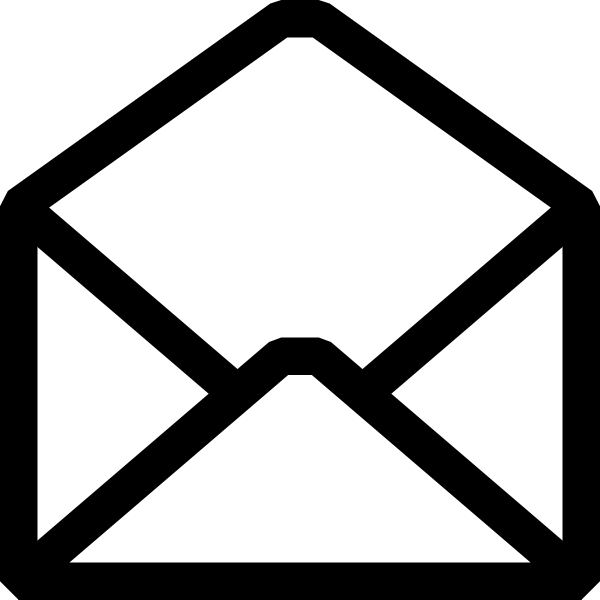 Mail black and white clipart