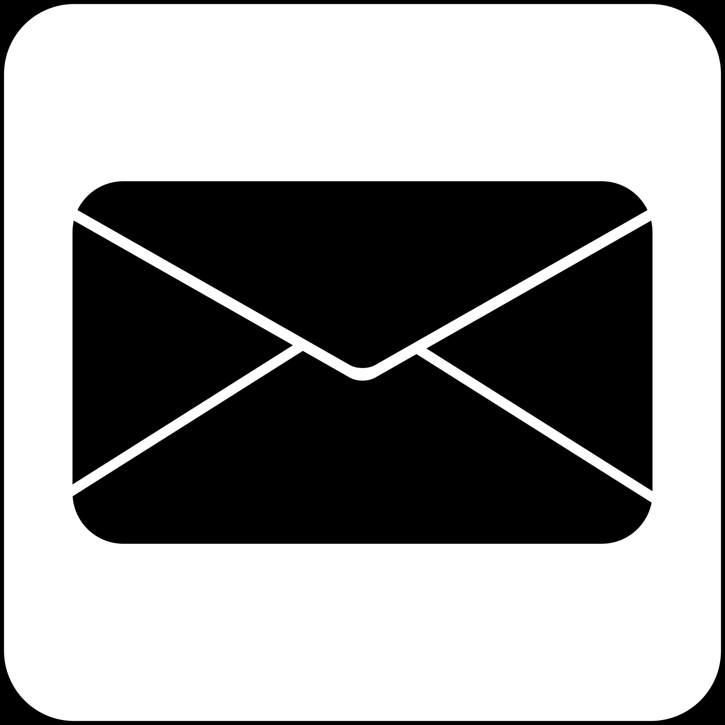 Mail symbol clipart