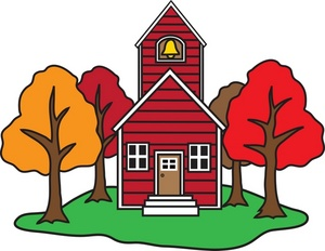 Old school house clipart 2