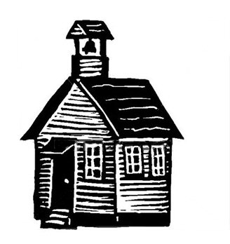 One room schoolhouse clipart 2