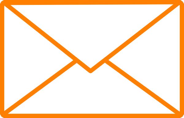 Orange envelope clip art at vector clip art