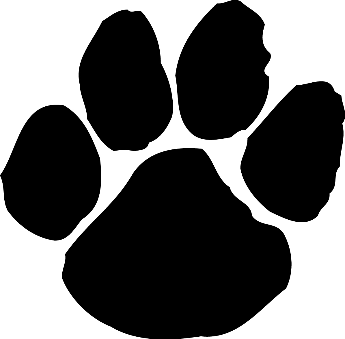 Paw prints clipart 2