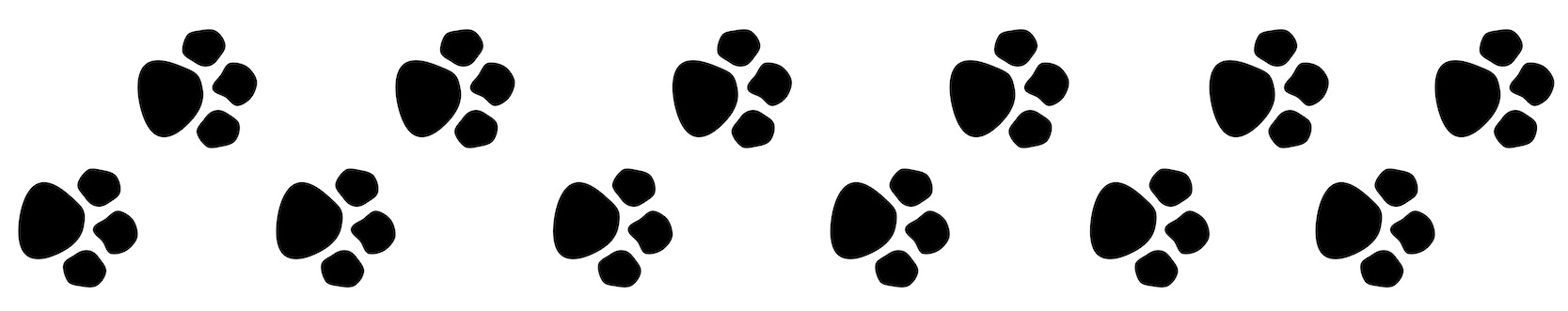 Paw prints clipart 3