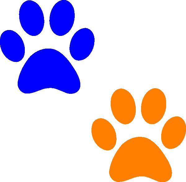 Paw prints cougar paw print clip art