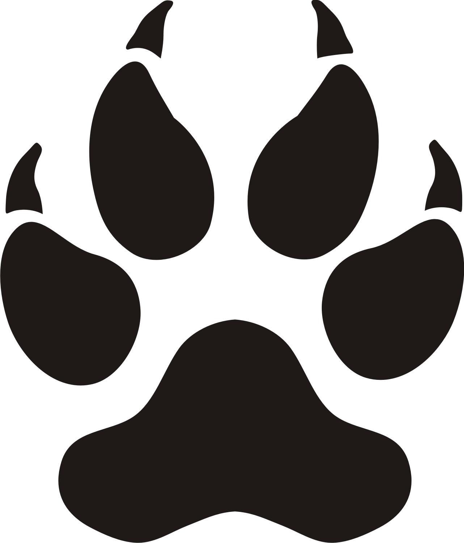 Paw prints cougar paw print clipart