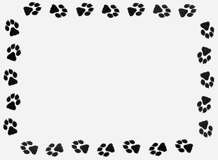 Paw prints paw print clip art border clipart