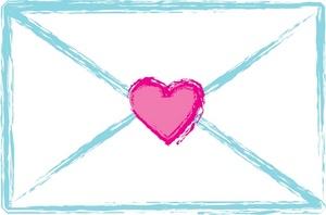 Pink envelope clipart clipartfest