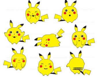 Pokemon clipart pikachu clipartfest