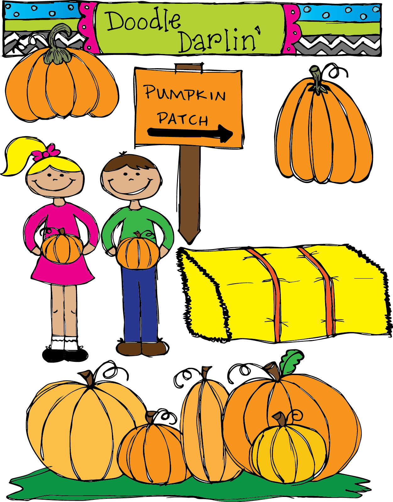 Pumpkin patch clipart free images 7
