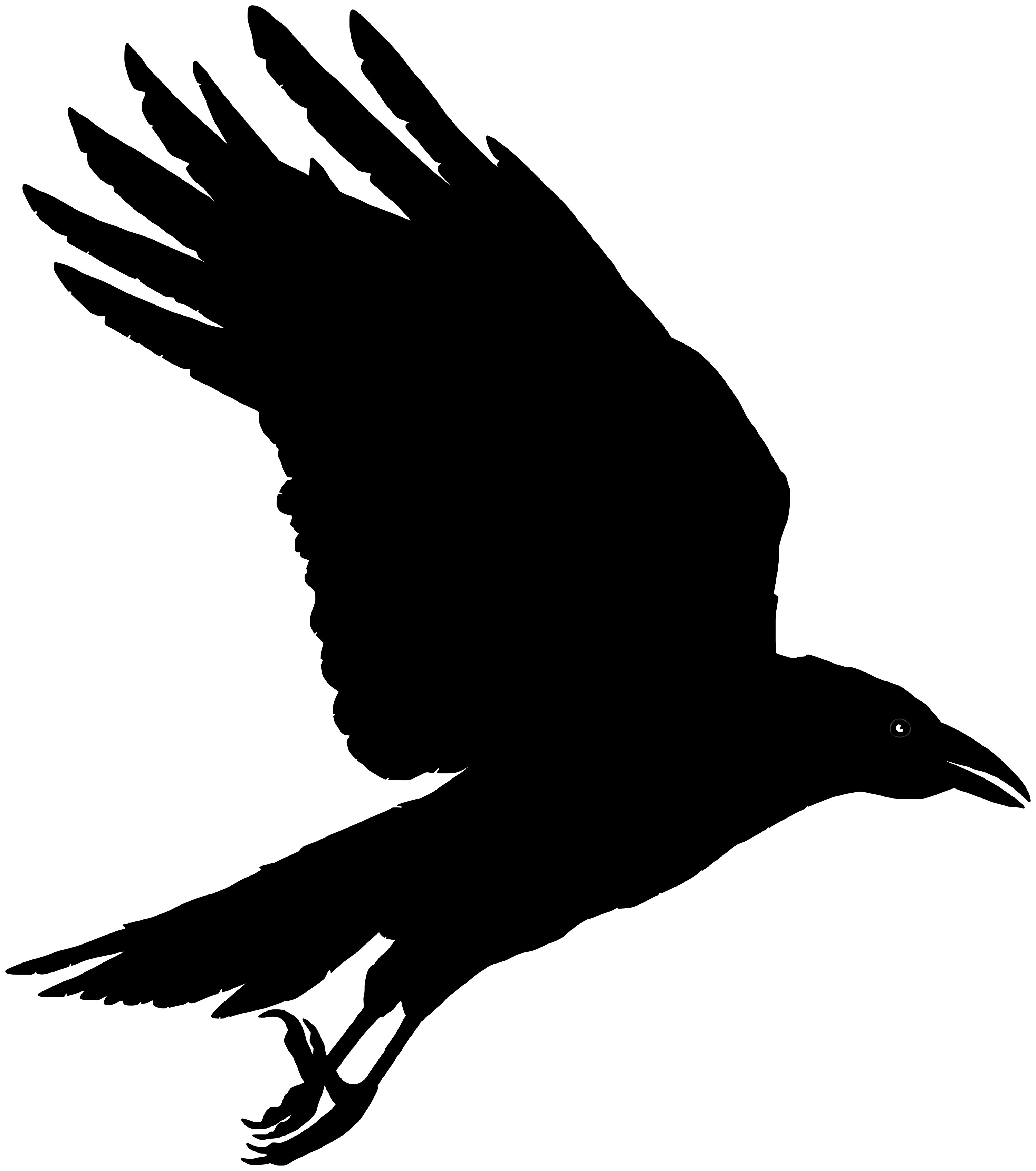Red crow clipart