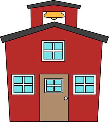 Red schoolhouse clipart 2