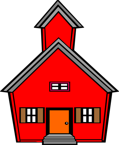 Red schoolhouse clipart 4