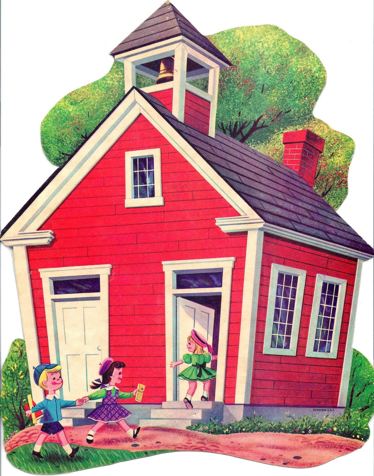 Red schoolhouse clipart 5