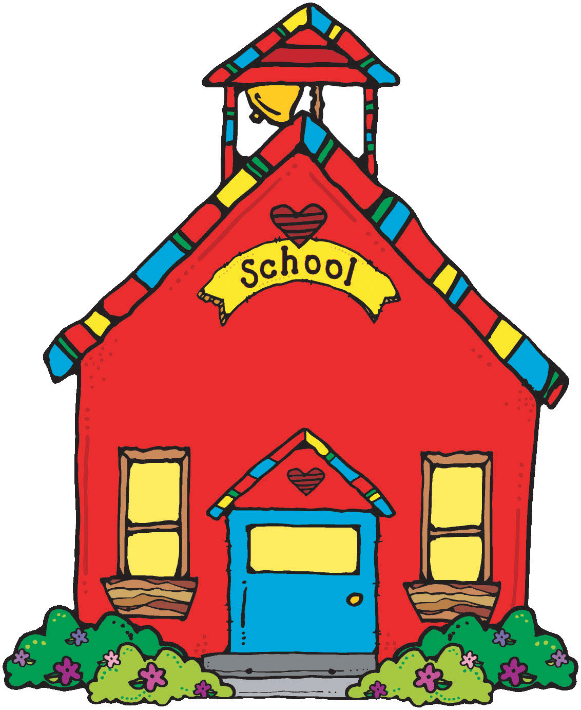 Red schoolhouse clipart