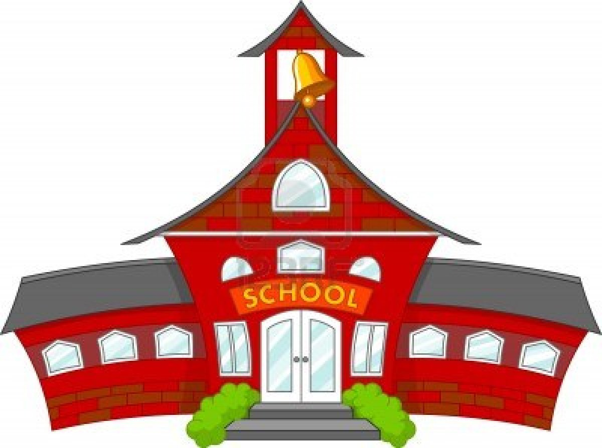 School house cartoon clipart