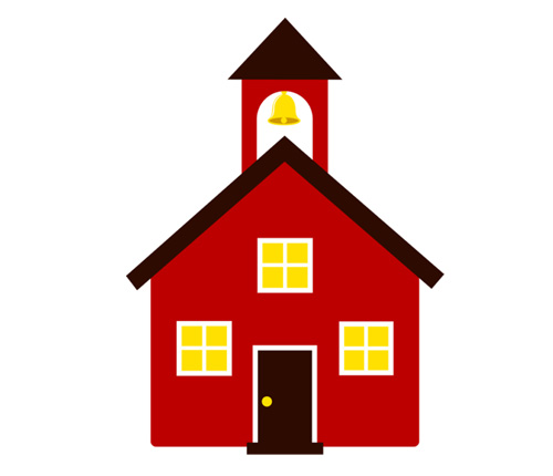 School house schoolhouse silhouette clipart 2