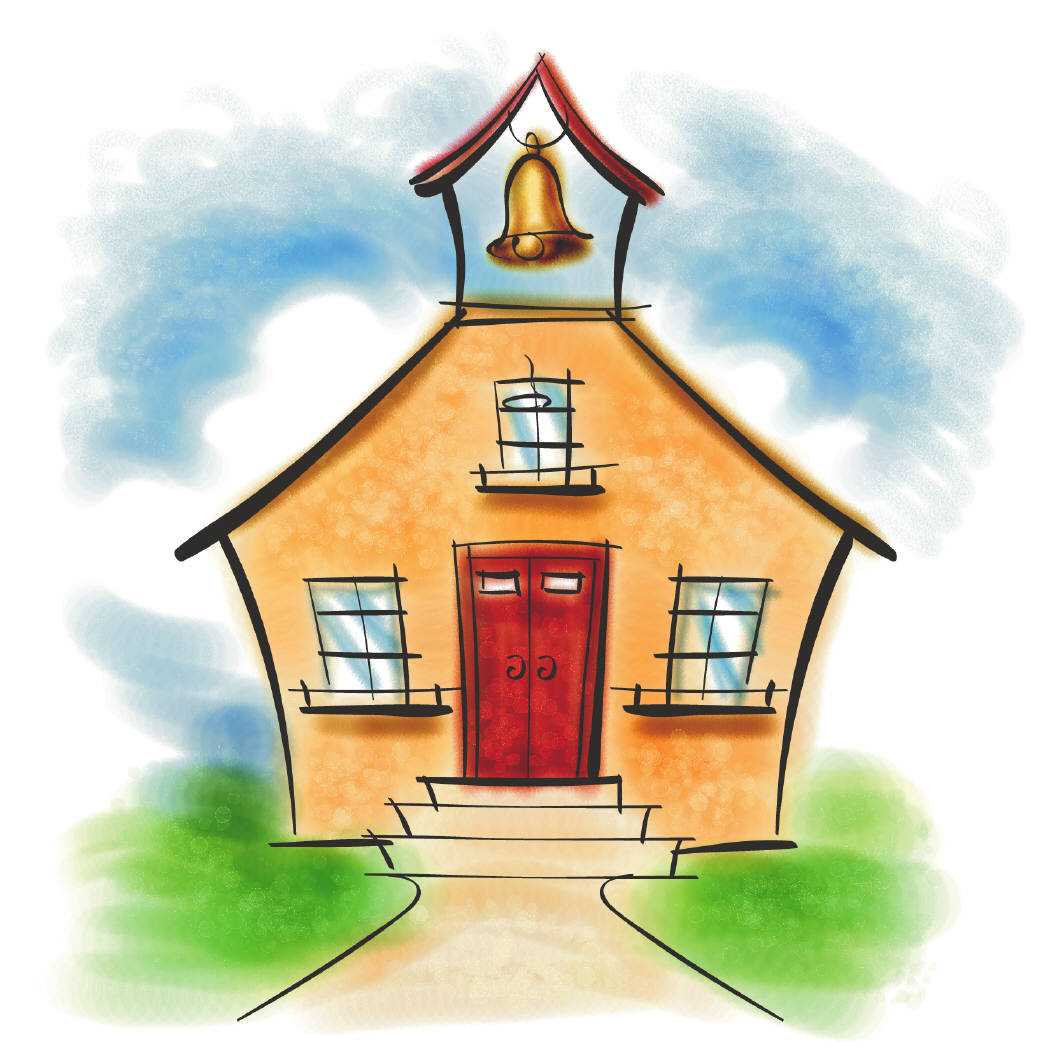 Schoolhouse old school house clipart 3