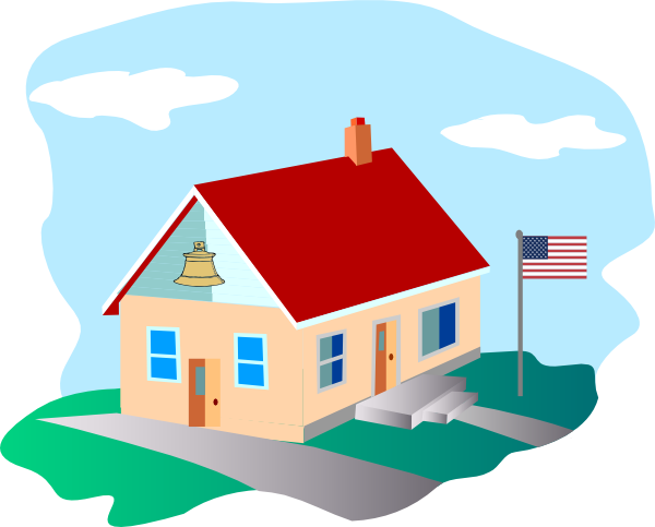 Schoolhouse school house clip art at vector clip art
