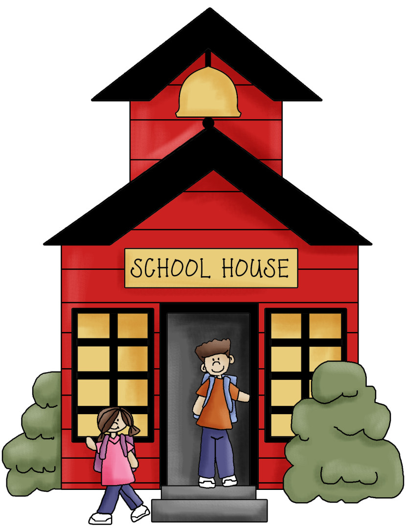 Schoolhouse school house clip art