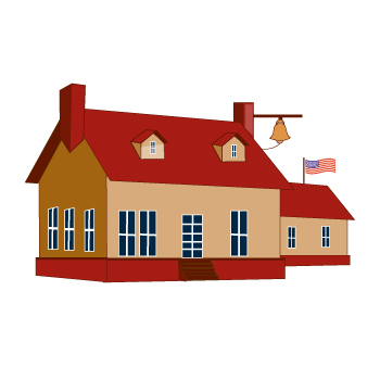 Schoolhouse school house clipart 2