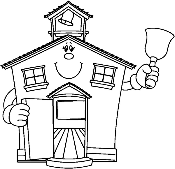 Schoolhouse school house clipart black and white free